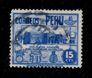 Peru Scott 378 Archaeological Museum, Lima 1938 Ultra Used