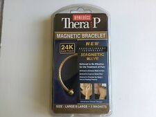 Homedics Magnetic Bracelet Thera P Pain Relief Therapy Gold Plated Large -XL New