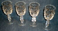 "FOUR (4) Libbey Glass Rock Sharpe MILAM 5.5"" Goblets Stemware Vintage American"