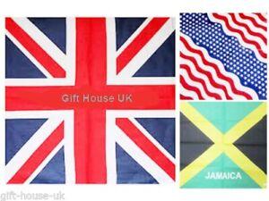 Union Jack USA Jamaica Flag Bandanna Headwear Band Scarf Neck Wrist Wrap Headtie