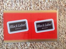 Black Label Beer Unrolled Flat Sheet Beer Can