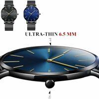 Herren Uhr Modisch Ultradünn Wasserdicht Automatik Mechanisch Geschäft Quarz Uhr