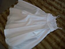 GIRL'S  DAVID BRIDAL SIZE 3 IVORY FLOWER GIRL DRESS
