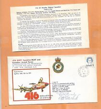 FIRST FLIGHT CANADIAN ARMED FORCES 416 AW(F) 1974 CV-1018 VOODOO SIGNED PILOT