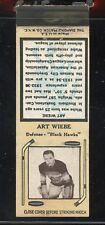 1936-39 Diamond Matchbook Hockey Type 6  Art Wiebe  Black Hawks  LOOK !!