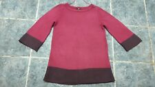 Women dark pink knitted oversized jumper size S by H&M
