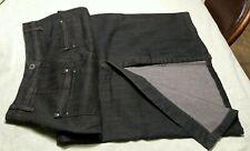 FDJ FRENCH DRESSING- Womens distressed black jean stretch pencil skirt. Sz 2