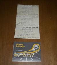 3 1984 PITTSBURGH SPIRIT PLAYOFFS GAME 2 TICKET STUBS & 1984-85 SCHEDULE