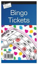 5 X Jumbo Libro De Bingo Pad de 600 entradas 6 para ver todos los colores + 1 Gratis Escudete