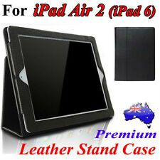 Premium Leather Stand Flip Case Cover For iPad Air 2(iPad 6) S/W Function Pouch