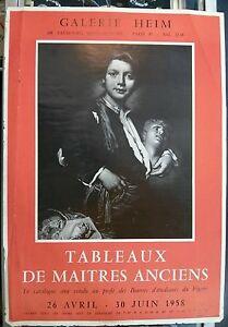 Vintage Art French Original Poster 1958 Galerie Heim Old Masters Exhibit RARE