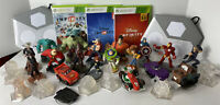 XBOX 360 Disney Infinity 1.0 2.0 3.0 Bundle LOT 18 Figures 3 Games Pixar Marvel