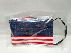 Stars and Stripes Cotton Face Mask Cotton Black Elastic Straps