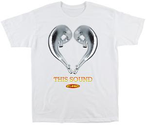 FMF Mens Love this Sound 2 Tee Shirt T-Shirt White 2XL