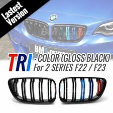 Gloss Black Dual Slats TRI M colour Kidney Front Grille for BMW F22 F23 F87 M2