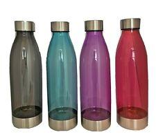 WATER BOTTLE sports/gym Plastic BPA Free - Stainless Steel Twist Off Lid, 22 oz