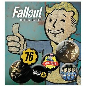 Fallout - Button Badge Set (6 BADGES) - GIFT