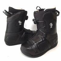 K2 Transit Boa Mens Size 9 Black Snowboard Boots Quick Lace