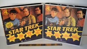 2X STAR TREK Huge Cases Collectors Limited Edition VHS Tapes Collectable Retro