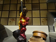 Butt Devil  w/ Wood Grinder Tobacco Smoking Pipe  <  glass stone  PM 1852 + G