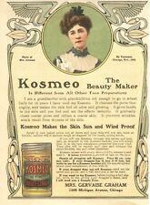 Kosmeo - Finest Toilet Cream - Mrs. Gervaise Graham - Chicago, Ill.   -  1906