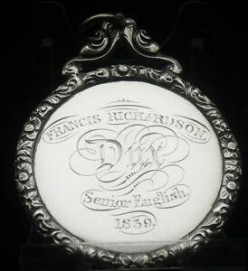 Silver School Dux Medal, Edinburgh Southern Academy 1839