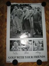 1998 Three Stooges Golf with Your Friends 35x24 Print