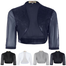 Sexy Women Chiffon Bolero Shrug Jacket Cropped Top Cardigan Half Sleeve Fashion