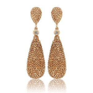 Indian Gold Tone Fashion Jewelry Earrings Women Bollywood Metal Drop Jhumka