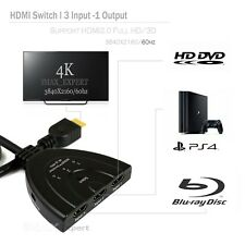 3 Port HDMI 4K@60HZ,2.0/1080P, 4Kx2K Multi Splitter/Switch HUB Box HDTV PS4 Xbox