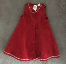 Baby Gap Red Cord Corduroy Winter Party Christmas Occasion Dress 12-18months