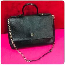 AUTHENTIC CAROLINA HERRERA BlACK Minuettoe Flap Bag