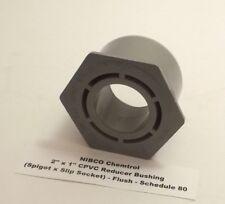 "NIBCO 2"" x 1"" CPVC Reducer Bushing (Spigot x Slip Socket) - Flush - Schedule 80"