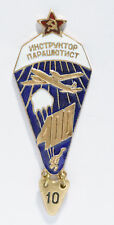 Soviet Russian Airborne Parachute Badge Instructor 400 Jumps_ORIGINAL USSR