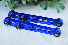 PAIR BLUE BILLET ALUMINUM REAR LOWER CONTROL ARM FOR 1996-2000 HONDA CIVIC EK