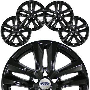 """4 for Ford Explorer XLT 2018 2019 Black 18"""" Wheel Skins Full Rim Covers Hub Caps"""