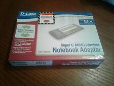 D-Link Dwl-G650M Super G Mimo Wireless Notebook Adapter Pre-N Factory Sealed