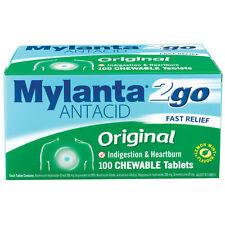 Mylanta 2Go Original Chew Tablets 100 - Indigestion, Heartburn, Upset Stomach