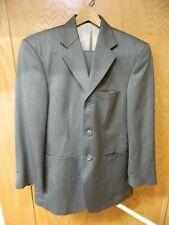 J Ferrar Mens Suit  36s 30 X 28 Gray Weave Wool blend  NWOT L-#43