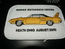 1970  plymouth superbird   MOPAR NATS cloth patch  4 inch  2010  show