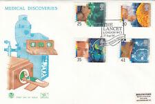(11820) GB Stuart FDC Medical Discoveries The Lancet London WC1 27 Sept 1994