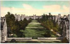 Postcard Duke University Durham, N.C. Campus North from Crowell Tower c1940s