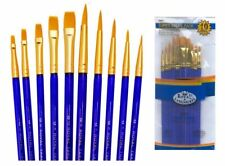 ROYAL LANGNICKEL -SVP7- 10 BRUSHES PACK - IDEAL FOR WATERCOLOUR, OIL AND ACRYLIC