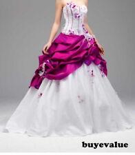 Robe de mariée neuve :  coloris blanc/fushia -  Taille 44 - LIVRABLE DE SUITE
