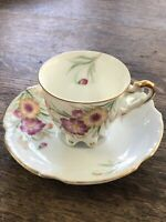Vintage Ucagco Occupied Japan Footed Demi Cup And Saucer. Outstanding Condition!