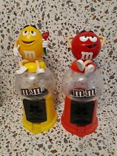 More details for pair of m&m's gumball machine candy dispensers rwd and yellow