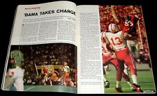 ALABAMA FOOTBALL 1973 PICTORIAL BEAR BRYANT & THE #1 CRIMSON TIDE FIGHT IT OUT