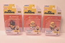 LOT of 3 Minions Poseable Figures Egyptian , Bored Silly Stuart & Vive Le Minion