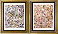 "2 Pollock Signed/Hand-Numbered Ltd Ed Prints, ""Number 1"" & ""Untitled"" (unframed)"