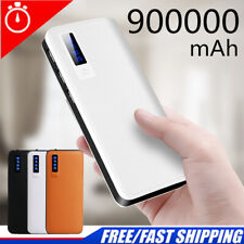 NEW 900000mAh Power Bank 3 USB LCD Portable Pack External Battery Fast Charger